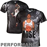 NBA Chicago Bulls Derrick Rose Sublimated High Definition Photo Tee Shirt Boys'