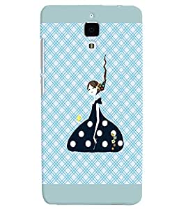 PRINTVISA Cute Girl Case Cover for Xiaomi Mi4