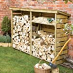 Large Wooden Log Store for Firewood L...