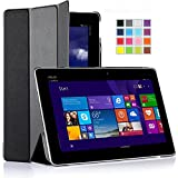 IVSO ASUS Transformer Book T100 Chi Case -Ultra-Lightweight Slim Smart Cover Case-Will only fit ASUS Transformer Book T100 Chi 10.1-inch (2015 Version) Tablet (Black)