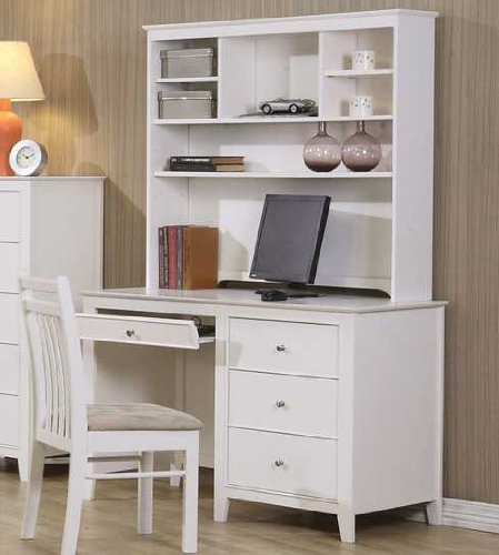 Buy Low Price Comfortable Selena Computer Desk and Hutch by Coaster (B00363UT2M)