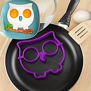 Breakfast Silicone Owl Fried Egg Mold Mould Pancake Egg Ring Shaper DIY Cooking Tool*1 by GalaxyStart