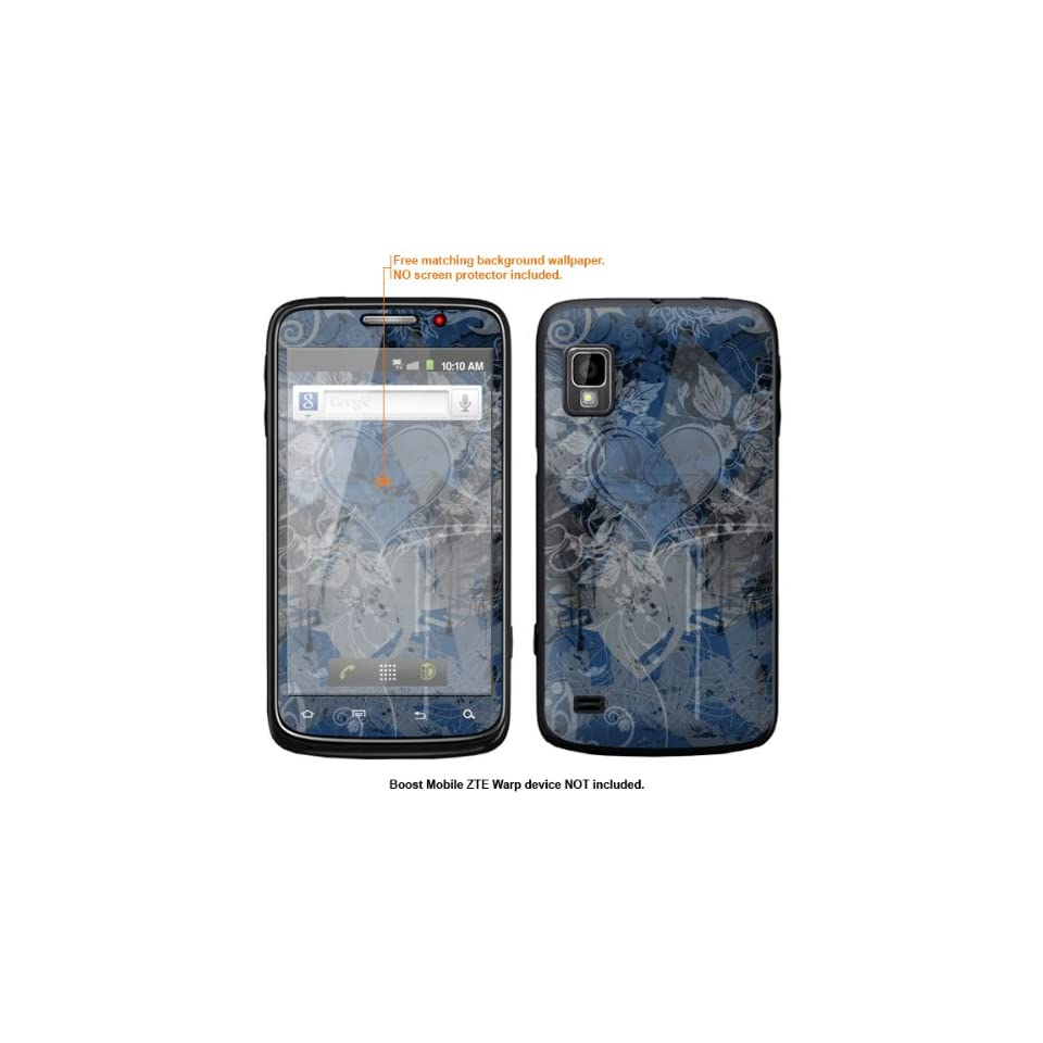 Protective Decal Skin Sticker for ZTE Warp  Boost Mobile version  case cover ZTEwarp 568