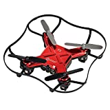 Veterans Day Sale-Contixo Mini Pocket Drone 4CH 6 Axis Gyro RC Micro Quadcopter with 3D Flip, Intelligent Fixed Altitude (Red)