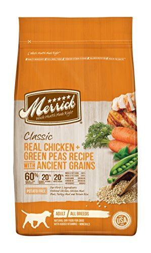 Merrick 1 Count Classic Real Chicken + Green Peas Recipe with Ancient Grains, 25 lb by Merrick