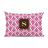 Dabney Lee Lucy Lumbar pillow with Single Initial, O, Multicolored