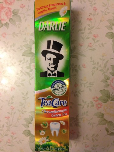 2 Packs Of Darlie Tea Care Chrysanthemum Green Tea New Organic Toothpaste