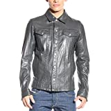 Diesel Mens Diesel Leather Jacket L-Focke