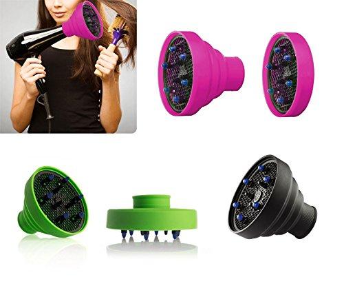 Diffusore universale per phon asciugacapelli in silicone pieghevole da viaggio DIFFUSER. MWS