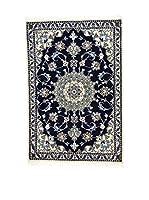 L'Eden del Tappeto Alfombra Nain K Azul / Beige 92 x 136 cm