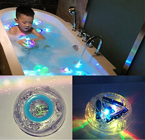 Trait-tech 2pcs Colorful Bathroom LED Light Toys Kids Funny Bathing Toys Waterproof in Tub (Bathroom Tub Light compare prices)