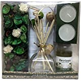 Devinez Reed Diffuser Gift Set With Potpourri, 2 Tealight Candles Jasmine Fragrance
