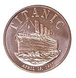 1 Oz Copper Round Titanic Design
