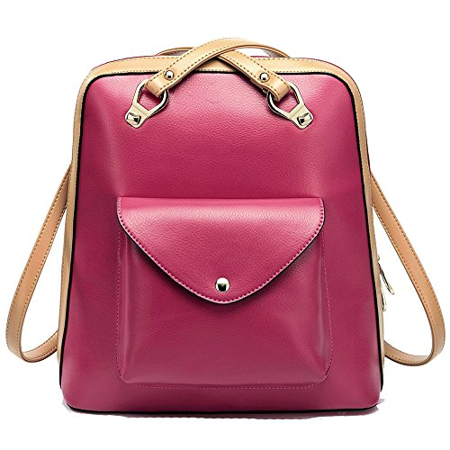 Coofit® Women's Casual Street Magic Orchestra Hit Color Series Shoulder Bags (Rose)