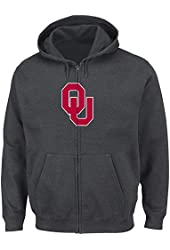 NCAA University of Oklahoma Men's Bold Statement Long Sleeve Full-Zip Hooded Fleece