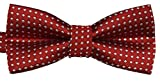 Colorful Polka Dots Bow Tie,Adjustable Bowtie Fashion Accessories for Pet Dog Cat (Red)