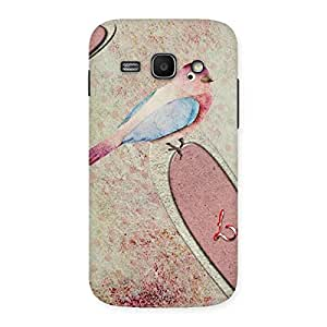 Bird Heart Drawing Back Case Cover for Galaxy Ace 3