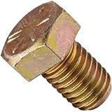 Steel Hex Bolt, Grade 8, Zinc Yellow-Chromate Plated Finish, External Hex Drive, Meets ASME B18.2.1, Right Hand Threads, Inch