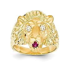 buy Men'S 14K Yellow Gold Lion Ring