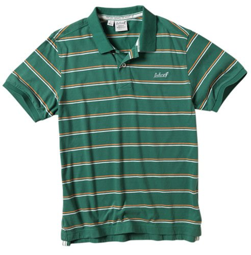 Onfire Mens Yarn Dyed Striped Polo Green Size X-Large
