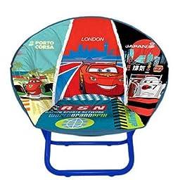 The Disney Cars 2 Mini Saucer Chair Lightening McQueen