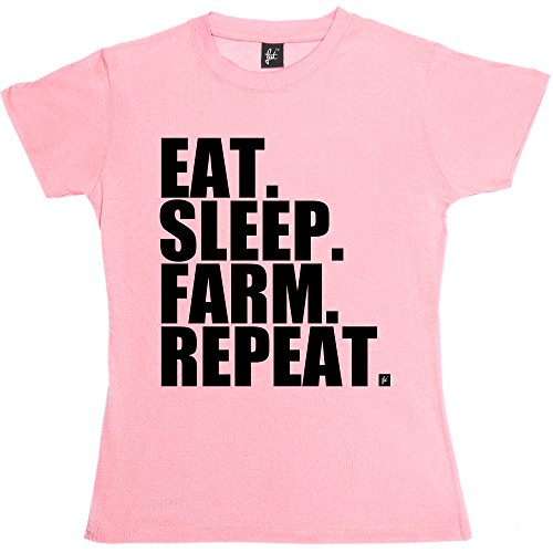 eat-sleep-farm-repeat-farming-farmers-tractor-womens-ladies-t-shirt-size-s-32-34-inch-chest-colour-b