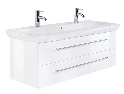 Bathroom Furniture Keramag IT! 130 cm double washbasin White High-Gloss