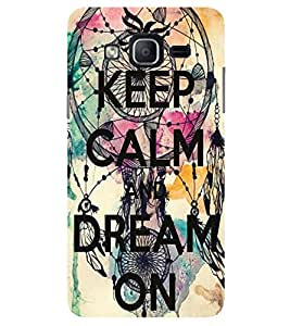 Evaluze KEEP CALM Printed Back Cover for SAMSUNG GALAXY ON7 2015