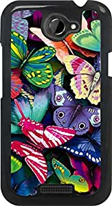 Dot Print Back Cover For HTC One X Colorful Butterfly Printed Case