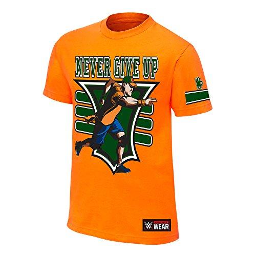 official-wwe-john-cena-15-x-maglietta-da-ragazzo-orange-l