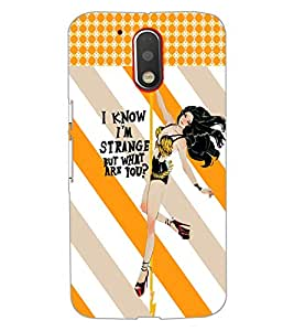 PrintDhaba Quote D-6047 Back Case Cover for MOTOROLA MOTO G4 (Multi-Coloured)