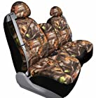 Saddleman Front Bench/Backrest Custom Made Seat Cover - Polyester Fabric (Camouflage)