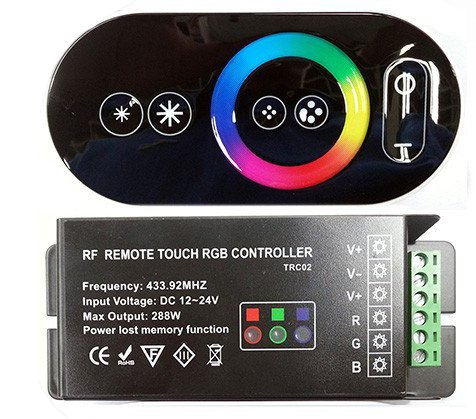 Hkbayi Wireless Rf Remote Controller Touch Panel Led Dimmer For Rgb Led Strip Dc 12/24V