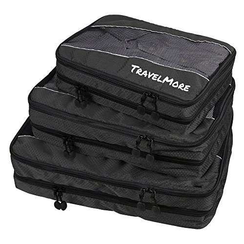 Travel Packing Cubes (Double Sided) - 3 Piece Set With Clean Dirty Compartments - Luggage Organization System for Backpacks, Suitcases, Carry On Bags (Ikea Canada compare prices)
