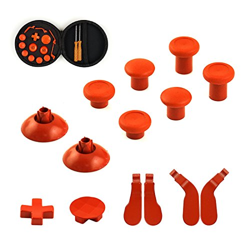 YTTLFull-Set-of-Xbox-One-Elite-Wireless-Controllers-Replacement-Part-15-pcs-6-Swap-thumbsticks-2-D-pads-4-Hair-Trigger-Locks-Orange