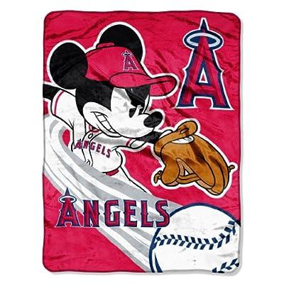 MLB Los Angeles Angels 46x60-Inch Micro Raschel Throw