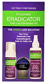 Lice & Nit Elimination ERADICATOR Kit, Natural Solution 3 Products with Terminator Lice Comb