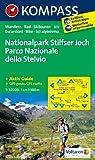 Nationalpark Stilfserjoch /Parco Nazionale dello Stelvio: Wanderkarte mit Aktiv Guide, Radrouten und Skitouren. GPS-genau. Dt. /Ital. 1:50000 (KOMPASS-Wanderkarten)