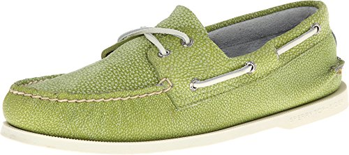 Sperry Top-Sider Men'S Washed Authentic Original Boat Shoe,Lime,10.5 M Us