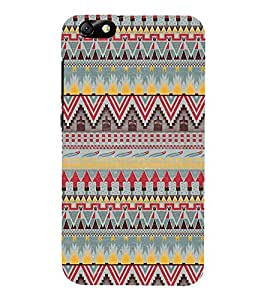 Multi Colour Pattern 3D Hard Polycarbonate Designer Back Case Cover for Huawei Honor 4X :: Huawei Glory Play 4X