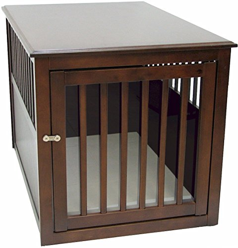 Crown Pet Crate Table, Large Size with Espresso Finish