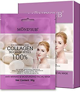 Mond'Sub (Pack Of 16 X 30G) Anti-Wrinkle, Moisturizing, Nourishing & Hydrating Facial Collagen Silk Mask Sheets - Rs.62/- Per Mask Sheet