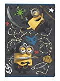 Cuaderno escolar-Cuaderno (DIN A5rayado Minions pirata graubraun 32páginas