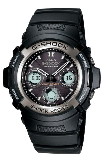 Casio Solar Watch #AWG100-1A Mens G-Shock Multi-Band Atomic Analog Watch