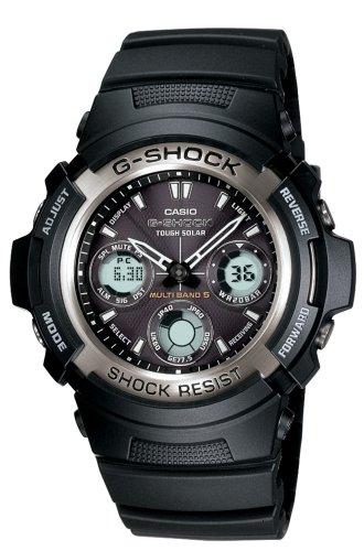 Casio Men's G-Shock Multi-Band Solar Atomic Analog Watch #AWG100-1A