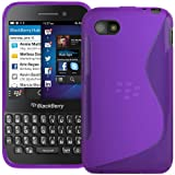 Purple S Curve XYLO-GEL Skin / Case / Back Cover for the BlackBerry Q5 Mobile Phone.