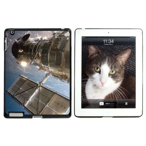 Hubble Telescope - Astronomy Space - Snap On Hard Protective Case For Apple Ipad 2 2Nd 3 3Rd 4 4Th (New) Generations - Black