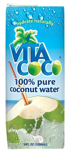 Vita Coco 100% Pure Coconut Water, 34-Ounce Boxes (Pack of 6)