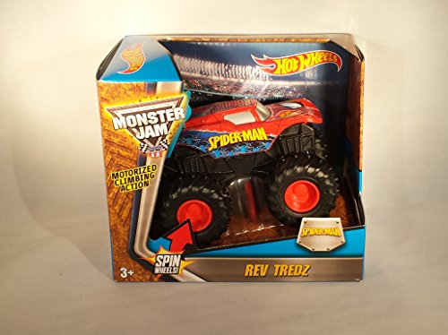 Hot Wheels Monster Jam Rev Tredz Spider-Man Vehicle - 1