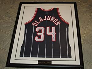 Hakeem Olajuwon Signed Autographed Jersey Houston Rockets Framed and Matted Authentic...